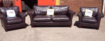 2 Piece Suite Sofa Stunning Brown Leather Dfs 3 Piece Suite Sofa And 2x Chairs
