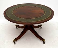 leather top side table brown round antique leather top coffee table designs for living room