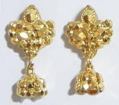 jhumka earrings gold gold plated small jhumka earrings