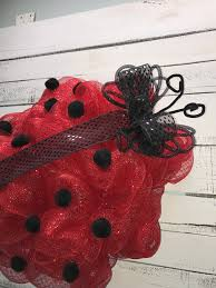Spring Wreaths For Door by Ladybug Wreath For Spring Through Summer Spring Wreath Spring