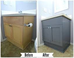how to paint bathroom cabinets white paint bathroom cabinet painting laminate cabinets grey ramanations com