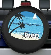 jeep life tire cover 32 33 premium jeep tire cover beach design fits jeep wrangler