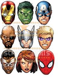 official captain america marvel the avengers card party face masks