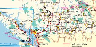 bc map map of southern bc a southern bc road trip more than 25 things