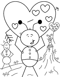 valentine coloring pages 1618