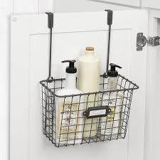 Cabinet Door Basket Gracie Oaks Lugo Basket Cabinet Door Organizer Reviews Wayfair