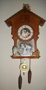 Beautiful Clocks by Just Beautiful Bradford Exchange Jurgen Scholtz Kitten Cat Art