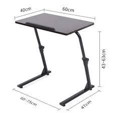table ordinateur portable canapé 60 40 cm hauteur réglable pour ordinateur portable table pliante