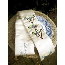 fasting cord handfasting cord wedding ceremony embroidered and personalized