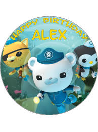 octonauts cake toppers 7 5 circle edible octonauts icing or wafer cake topper personalised