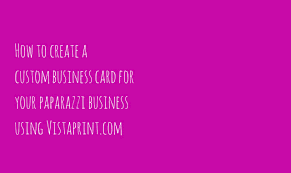 Vistaprint 10 Business Cards How To Create Your Custom Business Card Using Vistaprint Com Youtube