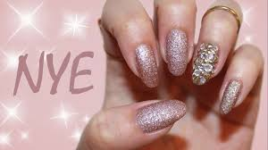 last minute new year u0027s eve nails blingy accent nail youtube