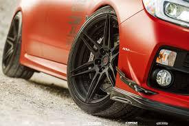 subaru matte black matte red subaru wrx sti adv06 m v2 cs adv 1 wheels