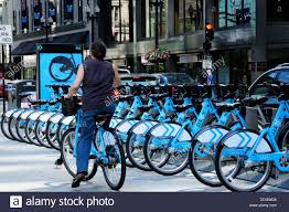 divvy map chicago divvy bicycle rental station on washington in chicago stock