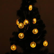 christmas tree shaped lights 2 5m 10 led creative lemon shape string lights 2x aa battery flash