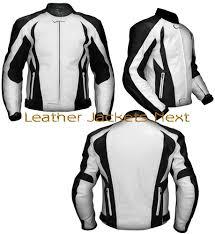 white motorcycle jacket black and white leather biker jacket