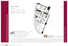 the address dubai mall hotel floor plans