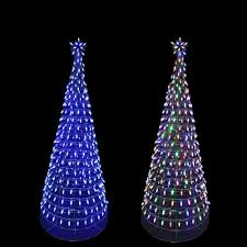 outdoor trees decorations metal with lights