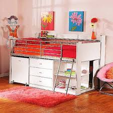 Girls Bed With Desk by Girls Twin Loft Bed With Desk And Storage U2013 Home Improvement 2017
