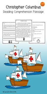 christopher columbus reading comprehension passage for grades 1 3