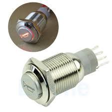 12 volt push button light switch neue 12 v led momentary hupenknopf metallschalter 16mm push button