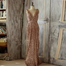 rose gold sequin wedding dress naf dresses