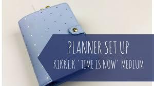 time design planner planner set up personal medium size kikki k time is now