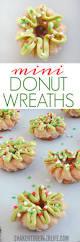 mini donut wreaths for christmas breakfast shaken together