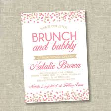 bridal shower brunch invitations bridal shower invitation wedding shower invitation confetti