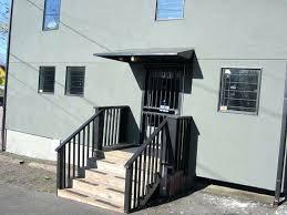 Door Awning Kits Black Metal Door Canopy 20 Front Door Ideas Residential Metal Door