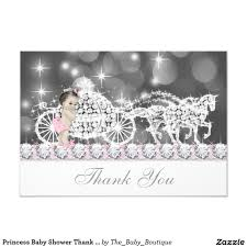 Baby Shower Invitations And Thank You Cards Princess Baby Shower Thank You Card Baby Shower Thank You