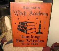 salem witches academy witch wiccan handpainted wood sign plaque