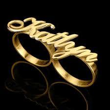 two finger name ring 9 best gold name rings images on name rings custom