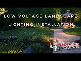 Landscape Lighting Installation - low voltage landscape lighting installation youtube