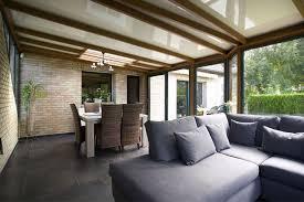 cuisine sous veranda veranda cuisine photo avec grande cuisine salle manger sous la v
