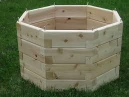 octagonal raised garden octagon raised garden bed backyard