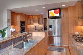 kitchen television ideas design remodeling inc contemporary kitchen dc metro