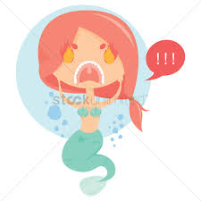 free angry mermaid vector image 1346419 stockunlimited