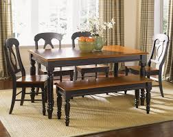 Black Dining Room Table And Chairs by Furniture Low Country Black 6 Piece 58x38 Rectangular Dining Room