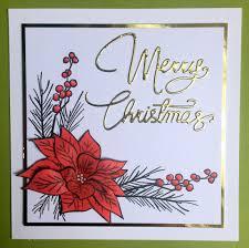 altenew poinsettia u0026 pine christmas card www clairmatthews com