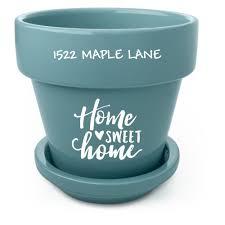 personalized flower pot home sweet home custom flower pots shutterfly