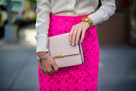 The Pink Clutch 2016 by Styling A Pink Lace Pencil Skirt Katie U0027s Bliss