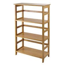 winsome 99342 studio tier book shelf bookcase in honey homeclick com