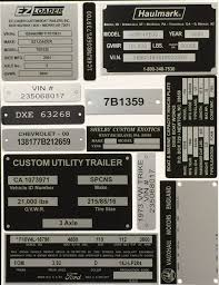 kenworth parts lookup by vin vin tags u0026 hull plates replacement vin plate manufacturer