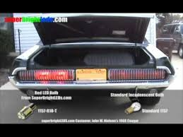 led vs incandescent bulb comparison 1968 mercury cougar youtube