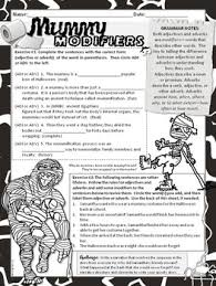 halloween grammar worksheets no prep middle and high by