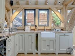 oak framed kitchen interior in extension in devon