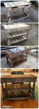 diy pallet work table pallets wood made kitchen island 101 pallet ideas pallet projects