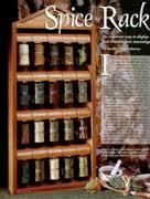 Woodworking Plans Spice Rack Spice Racks At Woodworkersworkshop Com