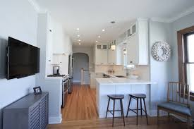Kitchen With Two Islands Cheerful Park Hill Bungalow Kitchen To Start The Day Diane